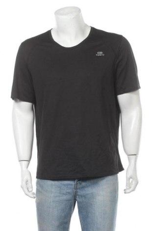 Мъжка тениска Kalenji, Размер XXL, Цвят Черен, Цена 10,92лв.