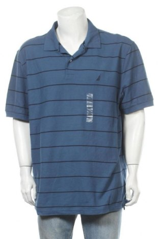 Ανδρικό t-shirt Nautica, Μέγεθος XXL, Χρώμα Μπλέ, 60% βαμβάκι, 40% πολυεστέρας, Τιμή 35,92€