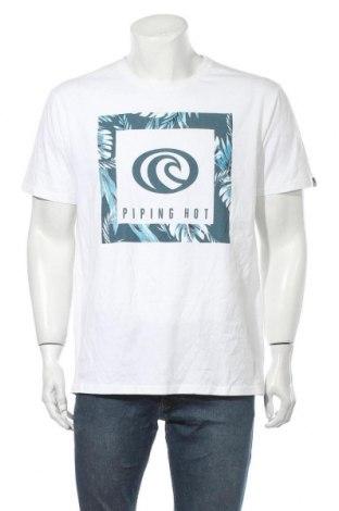 Ανδρικό t-shirt Piping Hot, Μέγεθος XL, Χρώμα Λευκό, Βαμβάκι, Τιμή 18,19€