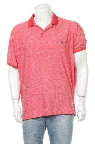 Ανδρικό t-shirt U.S. Polo Assn., Μέγεθος XXL, Χρώμα Κόκκινο, Πολυεστέρας, Τιμή 20,13€