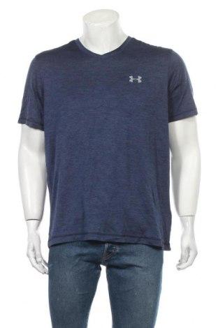 Мъжка тениска Under Armour, Размер L, Цвят Син, Полиестер, Цена 21,84лв.