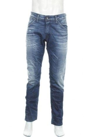 Мъжки дънки Jack & Jones, Размер L, Цвят Син, 90% памук, 9% полиестер, 1% еластан, Цена 96,75лв.