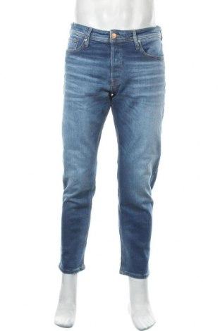 Мъжки дънки Jack & Jones, Размер L, Цвят Син, 98% памук, 2% еластан, Цена 66,75лв.
