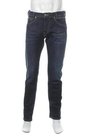 Мъжки дънки Pepe Jeans, Размер L, Цвят Син, 99% памук, 1% еластан, Цена 121,50лв.