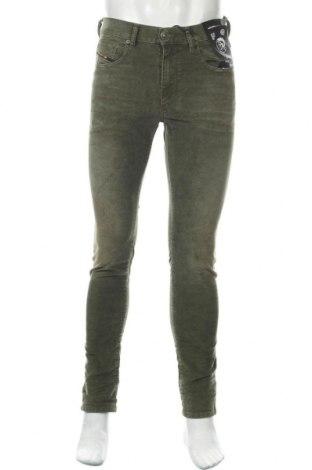 Мъжки джинси Diesel, Размер M, Цвят Зелен, 75% памук, 23% полиестер, 2% еластан, Цена 196,37лв.