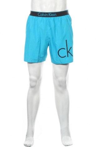 Мъжки къс панталон Calvin Klein, Размер M, Цвят Син, Полиестер, Цена 35,91лв.