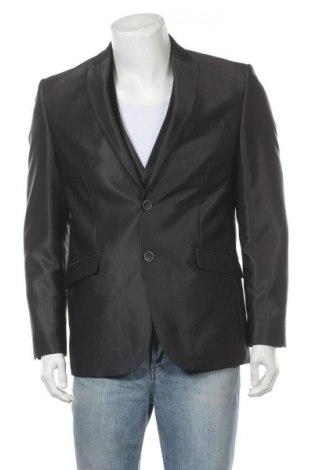 Мъжки костюм Angelo Litrico, Размер L, Цвят Сив, 80% полиестер, 20% вискоза, Цена 50,40лв.