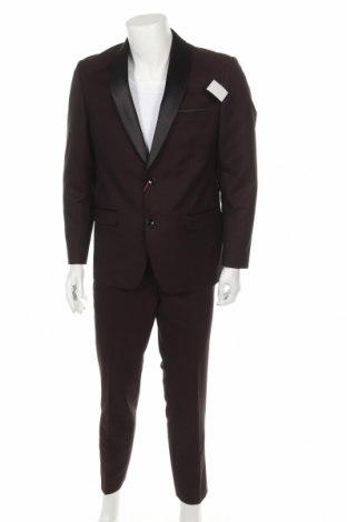 Мъжки костюм Bruno Banani, Размер L, Цвят Лилав, 83% полиестер, 17% вискоза, Цена 189,07лв.