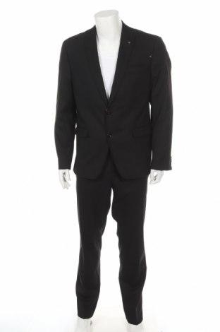 Мъжки костюм Bruno Banani, Размер L, Цвят Черен, 69% полиестер, 29% вискоза, 2% еластан, Цена 129,50лв.
