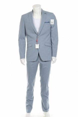 Мъжки костюм Bruno Banani, Размер M, Цвят Син, 69% полиестер, 29% вискоза, 2% еластан, Цена 116,07лв.