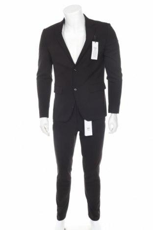 Мъжки костюм Lindbergh, Размер M, Цвят Черен, 68% полиестер, 30% вискоза, 2% еластан, Цена 100,17лв.