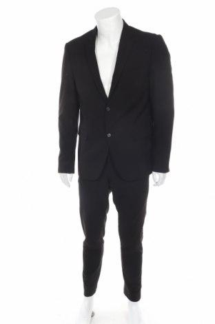 Мъжки костюм Lindbergh, Размер XL, Цвят Черен, 68% полиестер, 30% вискоза, 2% еластан, Цена 98,58лв.