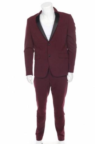 Мъжки костюм Lindbergh, Размер L, Цвят Червен, 68% полиестер, 30% вискоза, 2% еластан, Цена 98,58лв.