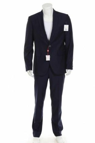 Мъжки костюм Man's World, Размер M, Цвят Син, 77% полиестер, 20% вискоза, 3% еластан, Цена 99,50лв.