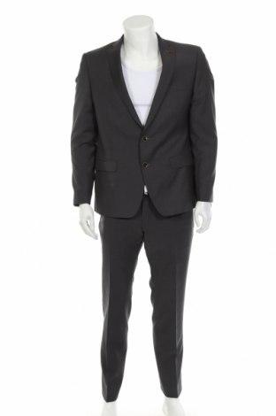 Мъжки костюм Roy Robson, Размер L, Цвят Сив, Вълна, Цена 131,60лв.