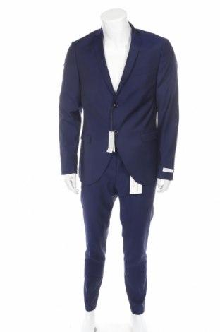 Мъжки костюм Tiger Of Sweden, Размер L, Цвят Син, Вълна, Цена 233,40лв.