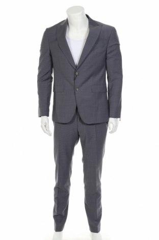 Мъжки костюм Tommy Hilfiger, Размер L, Цвят Сив, 56% полиестер, 42% вълна, 2% еластан, Цена 283,97лв.