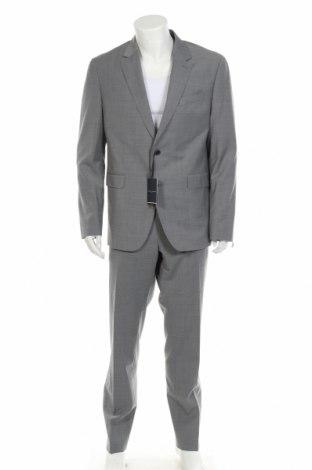 Мъжки костюм Tommy Hilfiger, Размер XL, Цвят Сив, 54% полиестер, 44% вълна, 2% еластан, Цена 283,97лв.
