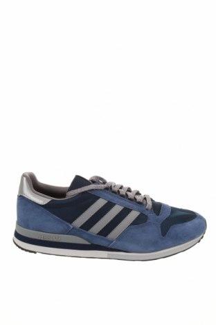 Мъжки обувки Adidas Originals, Размер 49, Цвят Син, Естествен велур, текстил, Цена 121,72лв.