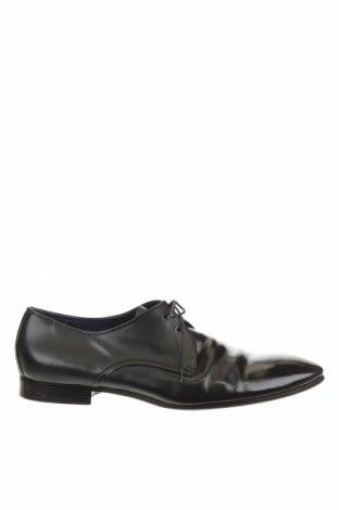 Мъжки обувки Hugo Boss, Размер 43, Цвят Черен, Естествена кожа, Цена 162,00лв.