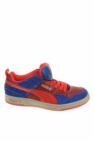 Мъжки обувки PUMA, Размер 42, Цвят Червен, Естествен велур, естествена кожа, еко кожа, Цена 96,75лв.