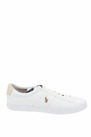 Ανδρικά παπούτσια Polo By Ralph Lauren, Μέγεθος 50, Χρώμα Λευκό, Κλωστοϋφαντουργικά προϊόντα, Τιμή 55,73€