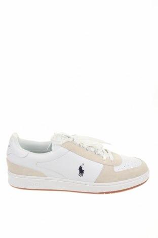 Ανδρικά παπούτσια Polo By Ralph Lauren, Μέγεθος 48, Χρώμα Λευκό, Γνήσιο δέρμα, φυσικό σουέτ, Τιμή 66,25€