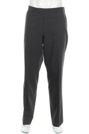 Мъжки панталон Hugo Boss, Размер L, Цвят Сив, 60% вълна, 37% полиестер, 3% еластан, Цена 33,97лв.