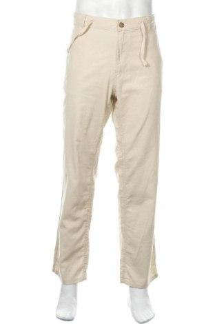 Ανδρικό παντελόνι Identic, Μέγεθος L, Χρώμα  Μπέζ, 55% λινό, 45% βαμβάκι, Τιμή 14,91€