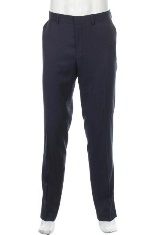 Pantaloni de bărbați Isaac Dewhirst, Mărime L, Culoare Albastru, 57% poliester, 42% viscoză, 1% elastan, Preț 37,83 Lei
