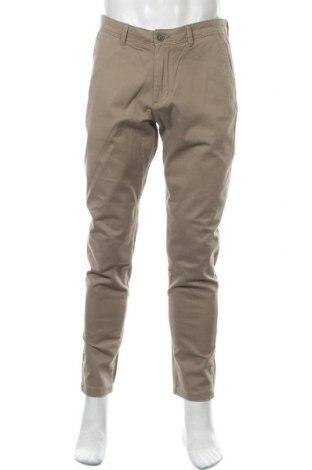 Ανδρικό παντελόνι Jack & Jones, Μέγεθος L, Χρώμα  Μπέζ, 98% βαμβάκι, 2% ελαστάνη, Τιμή 19,56€