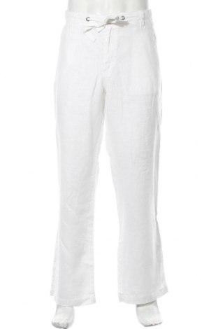 Мъжки панталон Maddison, Размер XL, Цвят Бял, Лен, Цена 24,94лв.