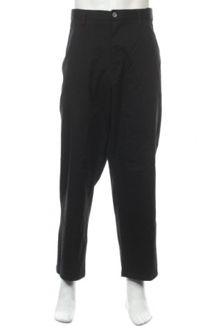 Ανδρικό παντελόνι Rivers, Μέγεθος XL, Χρώμα Μαύρο, 98% βαμβάκι, 2% ελαστάνη, Τιμή 17,54€