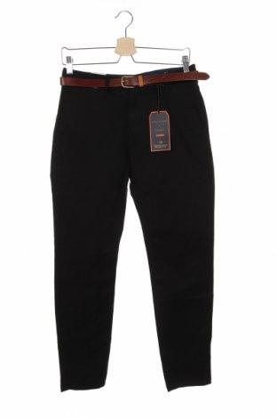 Мъжки панталон Scotch & Soda, Размер S, Цвят Черен, 98% памук, 2% еластан, Цена 164,25лв.