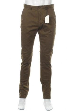 Мъжки панталон Scotch & Soda, Размер M, Цвят Зелен, 98% памук, 2% еластан, Цена 164,25лв.