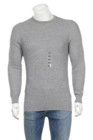 Мъжки пуловер Christian Berg, Размер S, Цвят Сив, Вълна, акрил, Цена 18,86лв.
