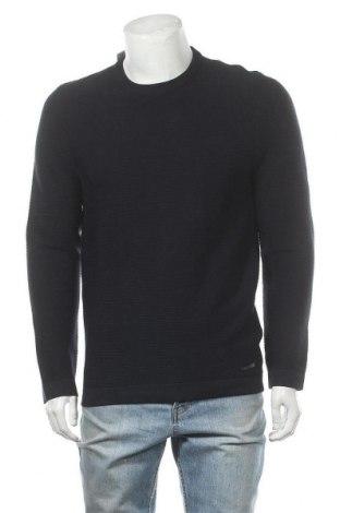 Pánský svetr  Christian Berg, Velikost M, Barva Modrá, 92% bavlna, 8% kašmír , Cena  330,00Kč