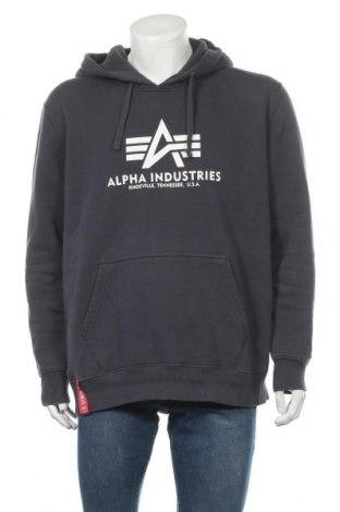 Ανδρικό φούτερ Alpha Industries, Μέγεθος XXL, Χρώμα Γκρί, 80% βαμβάκι, 20% πολυεστέρας, Τιμή 30,86€