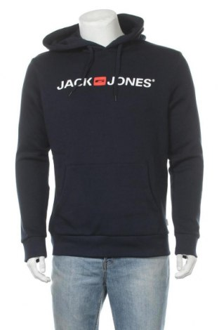 Ανδρικό φούτερ Jack & Jones, Μέγεθος M, Χρώμα Μπλέ, 70% βαμβάκι, 30% πολυεστέρας, Τιμή 18,44€