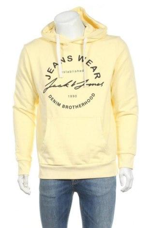 Ανδρικό φούτερ Jack & Jones, Μέγεθος L, Χρώμα Κίτρινο, 60% βαμβάκι, 40% πολυεστέρας, Τιμή 25,97€