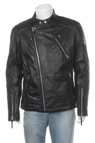 Ανδρικό δερμάτινο μπουφάν Freaky Nation, Μέγεθος XXL, Χρώμα Μαύρο, Γνήσιο δέρμα, Τιμή 123,40€
