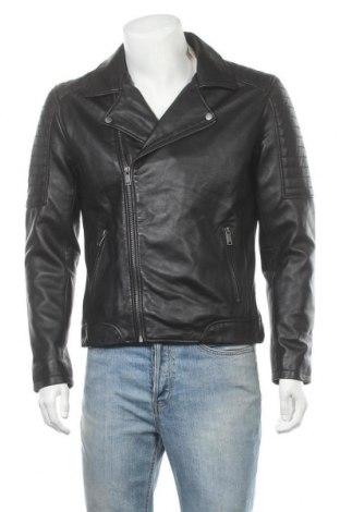 Мъжко кожено яке Lee Cooper, Размер M, Цвят Черен, Естествена кожа, Цена 119,25лв.