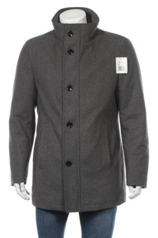 Мъжко палто Man's World, Размер L, Цвят Сив, 80% полиестер, 20% вълна, Цена 77,84лв.