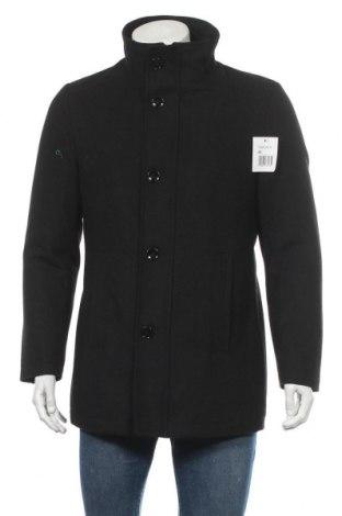 Мъжко палто Man's World, Размер M, Цвят Черен, 80% полиестер, 20% вълна, Цена 76,45лв.