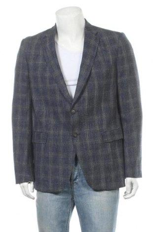 Мъжко сако Emporio Armani, Размер XL, Цвят Многоцветен, 59% вълна, 33% памук, 8% лен, Цена 276,75лв.