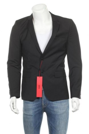 Ανδρικό σακάκι Hugo Boss, Μέγεθος M, Χρώμα Μαύρο, 74% μαλλί, 22% πολυεστέρας, 4% ελαστάνη, Τιμή 142,66€