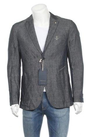 Мъжко сако Premium By Jack & Jones, Размер L, Цвят Син, 52% лен, 48% памук, Цена 121,20лв.