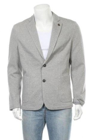 Мъжко сако Selected Homme, Размер L, Цвят Сив, 80% памук, 15% полиестер, 5% еластан, Цена 100,50лв.