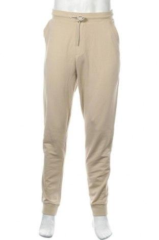 Ανδρικό αθλητικό παντελόνι Bikkembergs, Μέγεθος XL, Χρώμα  Μπέζ, 95% βαμβάκι, 5% ελαστάνη, Τιμή 49,18€