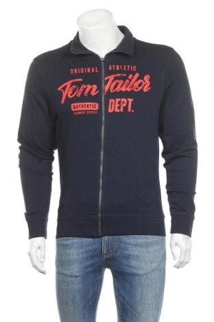 Мъжко спортно горнище Tom Tailor, Размер M, Цвят Син, Памук, Цена 51,75лв.